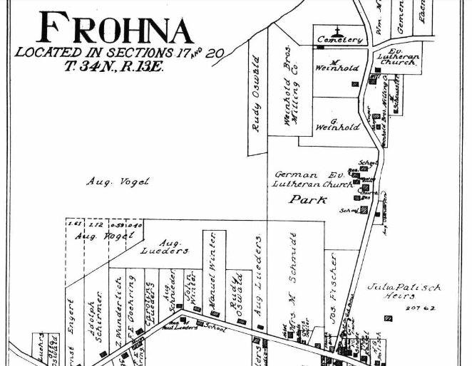 August Vogel land map Frohna 1915