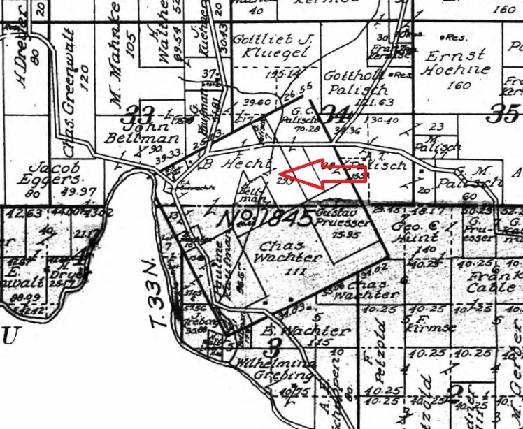 Benjamin Hecht land map 1915