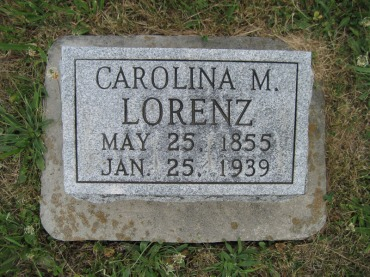 Carolina Lorenz gravestone