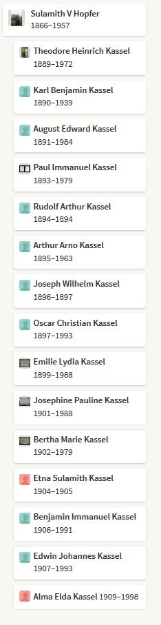 Christian Kassel children Ancestry