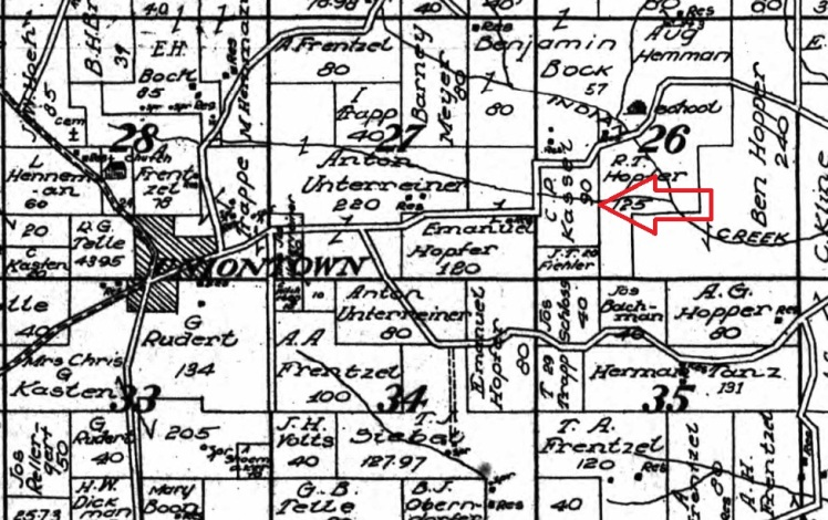Christian Kassel land map 1915
