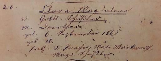 Clara Schuessler baptism record Trinity Altenburg