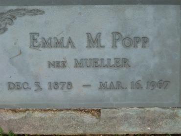 Emma Popp gravestone