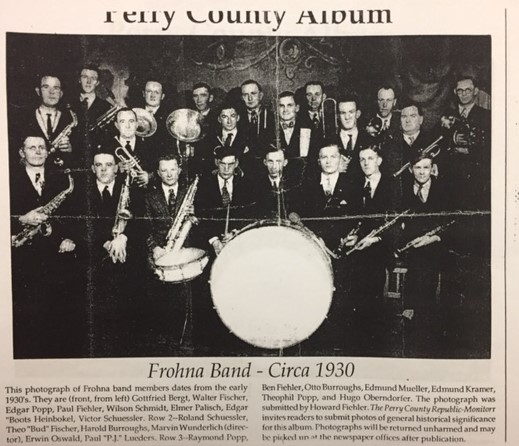 Frohna Band labeled