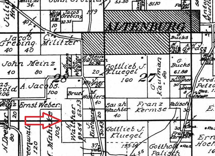 Herman Walther land map 1915