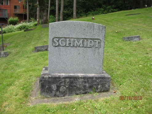 Hugo Hulda Schmidt gravestone Corvallis OR