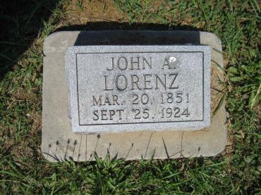 John Lorenz gravestone