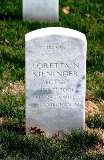 Loretta Kieninger gravestone