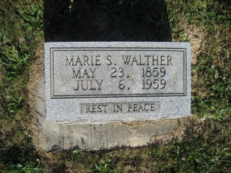 Marie Walther gravestone