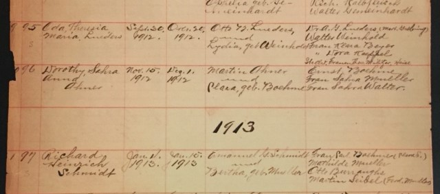 Oda Lueders baptism record Wittenberg