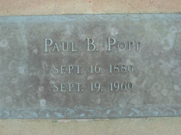 Paul Popp gravestone