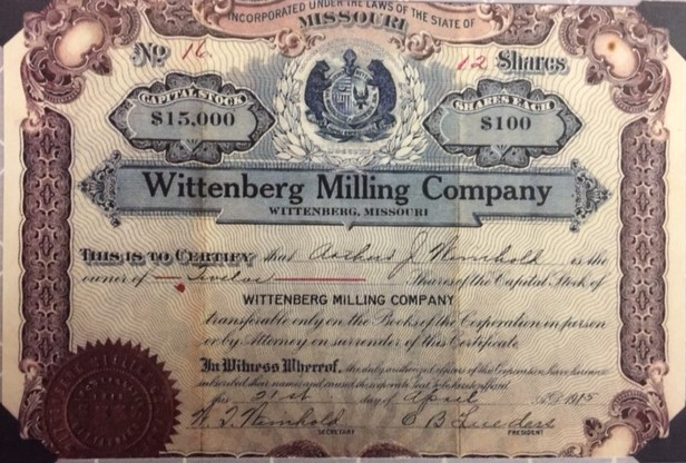 Wittenberg Milling Co. share Lueders