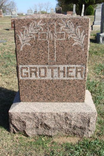 Carl Grother family gravestone