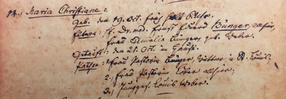 Christiane Maria Buenger baptism record Trinity Altenburg