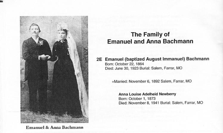 Emanuel and Anna Bachmann wedding