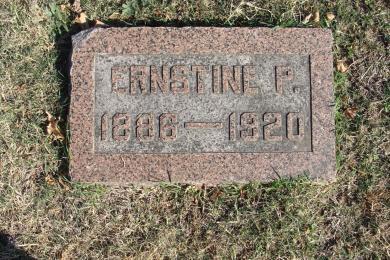 Ernestine Grother gravestone