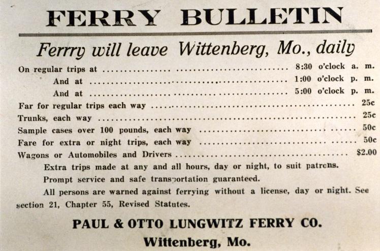 ferry bulletin X