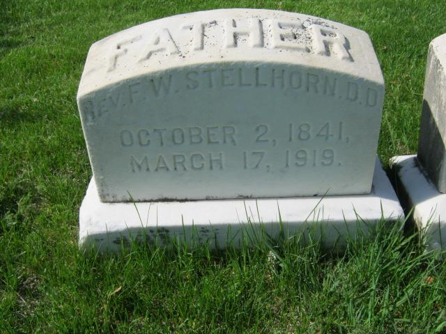 Frederick Stellhorn gravestone