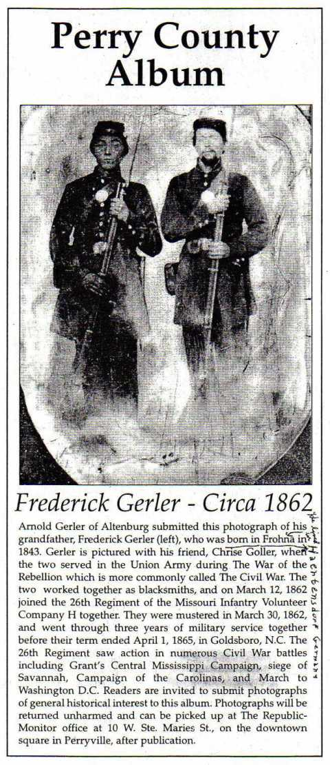 Friedrich Gerler Civil War photo