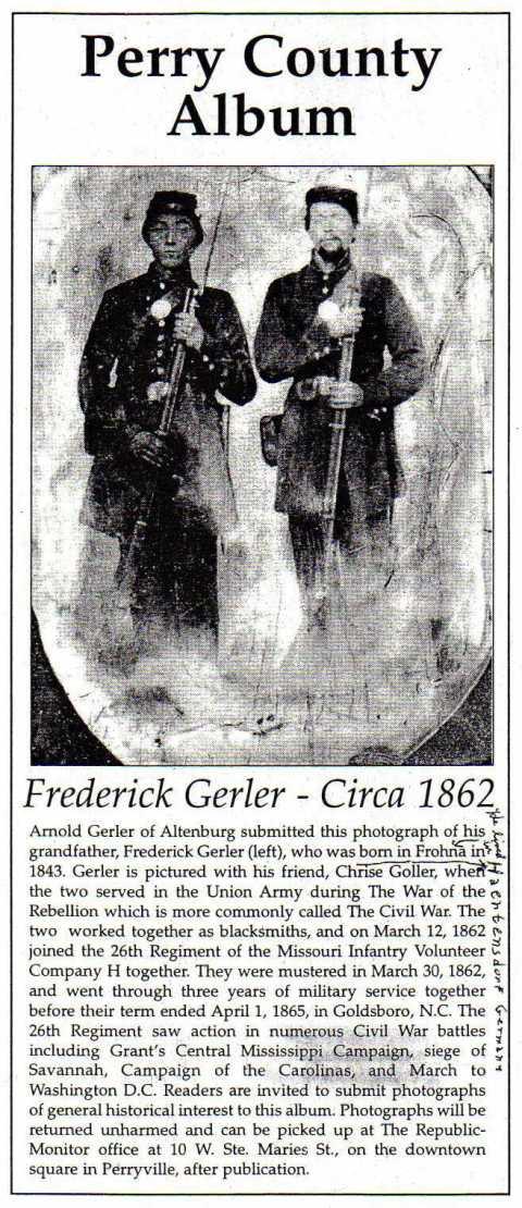 Friedrich Gerler Civil War photo
