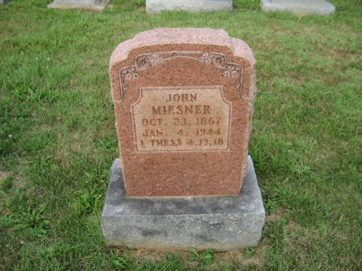 John Miesner gravestone Salem
