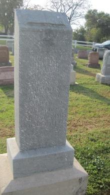 Magdalena Miesner gravestone Salem