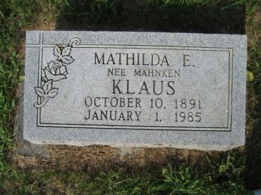 MathildaKlausGravestone