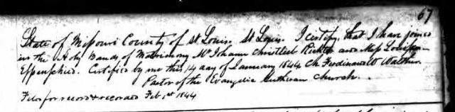 Richter Espenscheid marriage record St. Louis