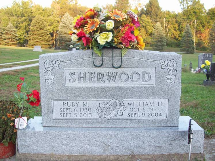 Ruby Berry Sherwood gravestone Auburn IN