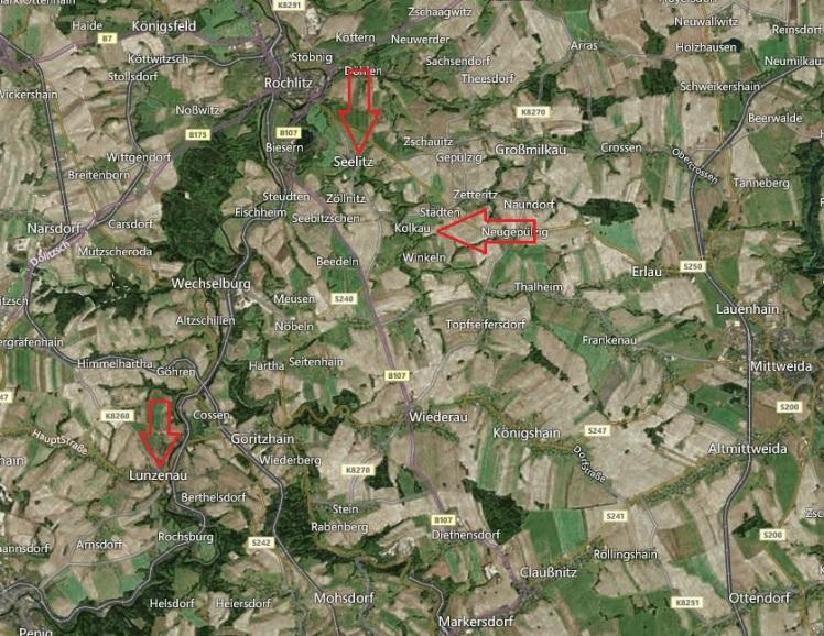 Seelitz Germany map