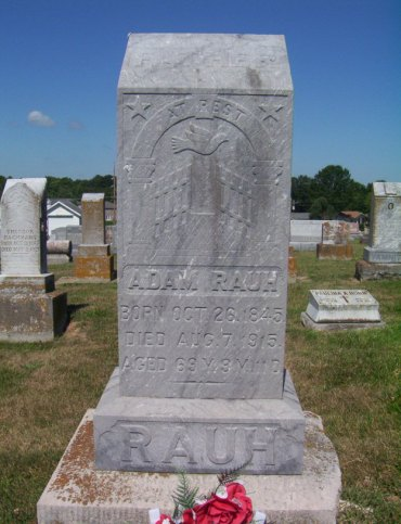 Adam Rauh gravestone