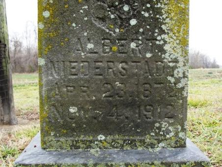 Albert Niederstadt gravestone Immanuel Murphysboro IL