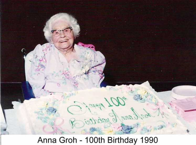 Anna Groh 100th birthday