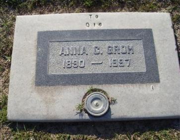 Anna Groh gravestone