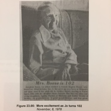 Boese Josie 102 years old
