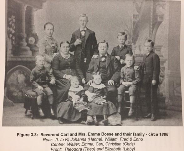 Boese Rev. Carl Boese family