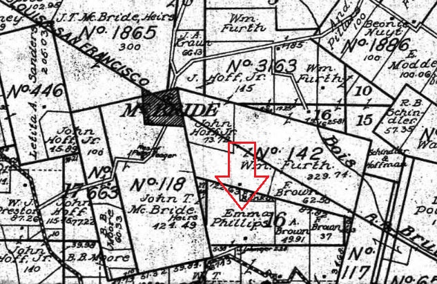Emma Phillips land map 1915