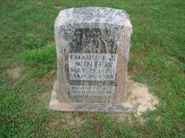 Emmanuel Winter gravestone Concordia