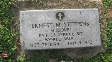 Ernest Steffens gravestone Farrar