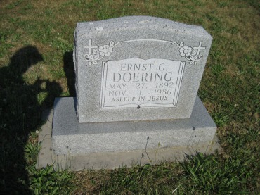 Ernst Doering gravestone Trinity