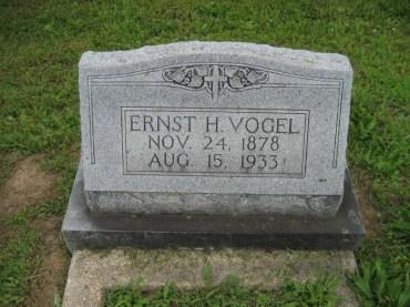 Ernst Vogel gravestone Immanuel Perryville