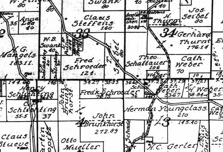 Friedrich Schroeder land map 1915