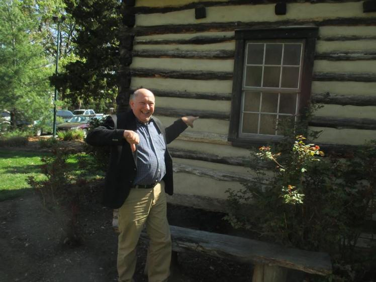 Gerard at Log Cabin Replica Seminary