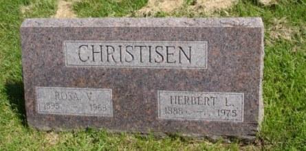 Herbert Christisen gravestone Perry IA