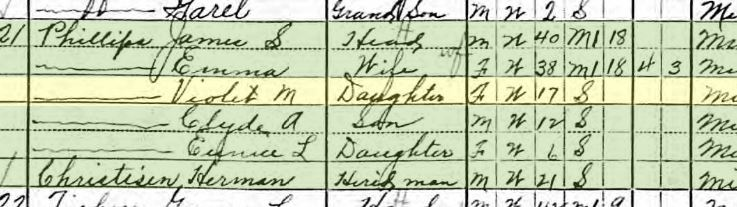 Herman Christisen 1910 census McBride
