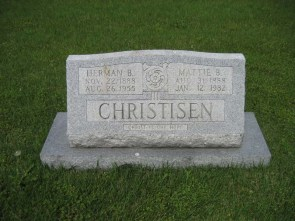 Herman Christisen gravestone Immanuel Perryville