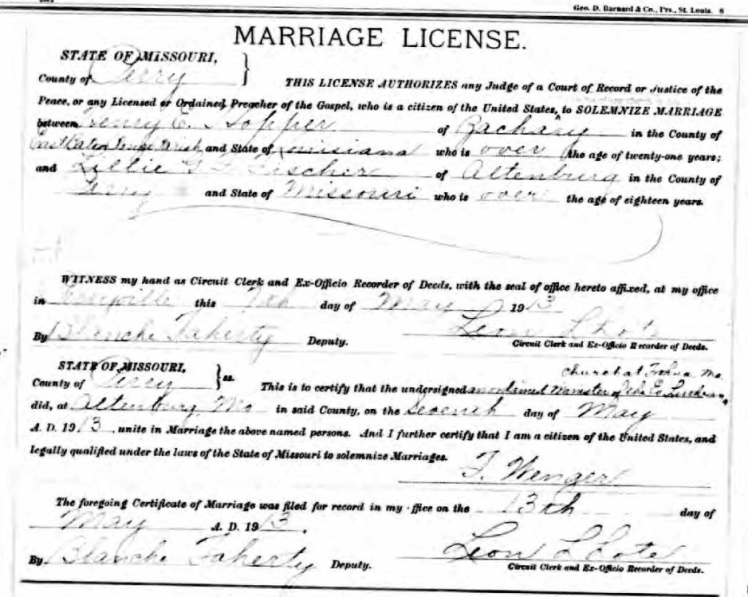 Hopper Fischer marriage license