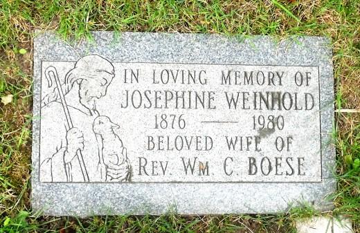 Josephine Boese gravestone St. Paul's Kitchener