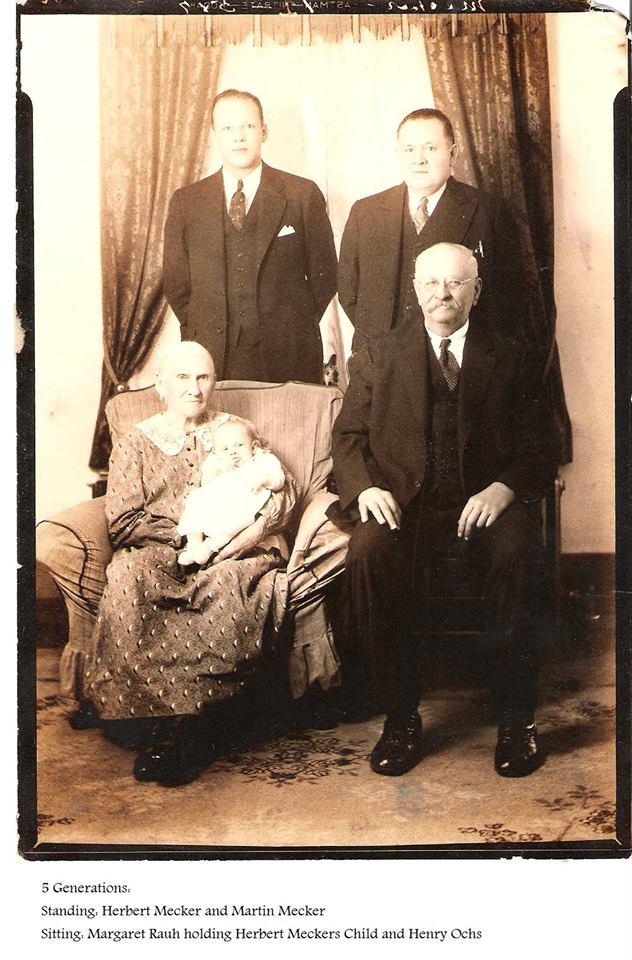 Margaret Lang Rauh 5 generations