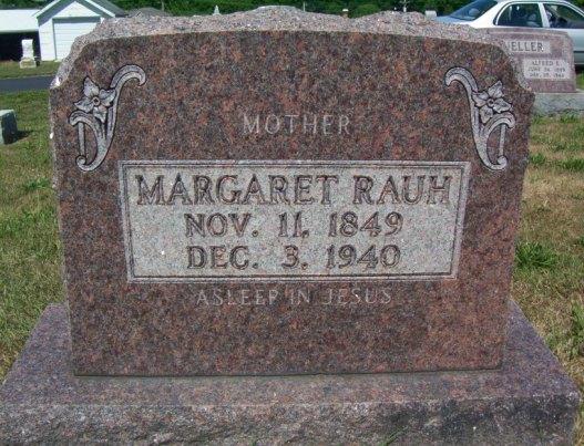 Margaret Rauh gravestone
